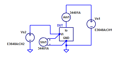 Wiring Diagram of gm-Amplifier Measurements