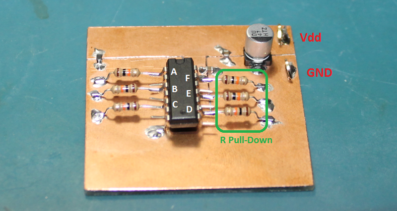 CD40106 Schmitt-Trigger Test Jig for Output Drive Characteristics.